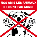Attention animaux non-admis